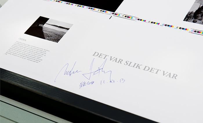 Prøvetrykk godkjent. (Foto: Morten M. Løberg)