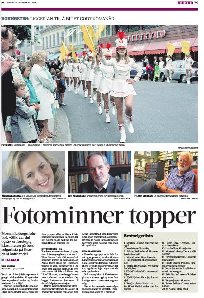 """Hamar Arbeiderblad rapporterer 17. november at """"Slik var det også"""" er den suverene bestselgeren på Hamar."""